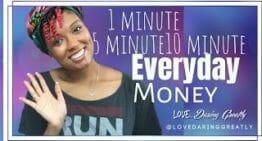 1, 5, & 10 Minute Everyday Money Routine | Simple Ways to Master Money