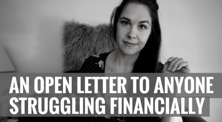 An Open Letter to Those Struggling Financially